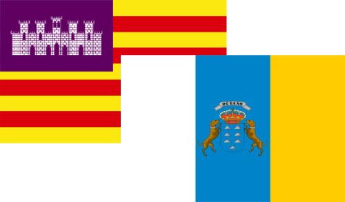 Banderas Baleares Canarias