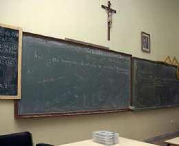 Crucifijo aula