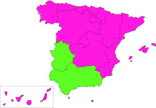 Mapa banderas autonomías