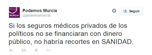 Tweet Podemos Murcia