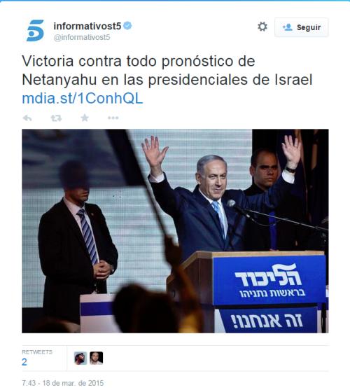 TweetPresidencialesIsrael