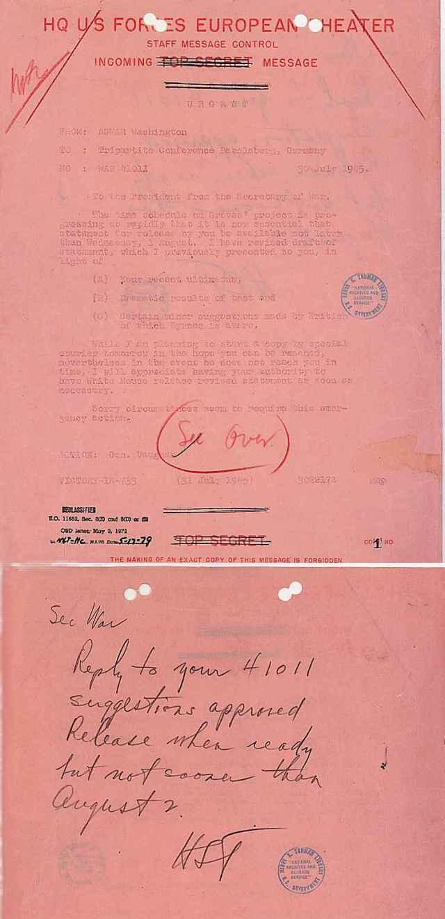 Orden Truman Bomba Atómica